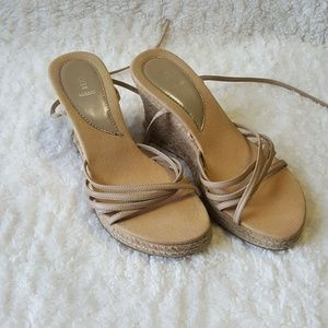 Bakers Women's Straw Braided Sandals Size 8